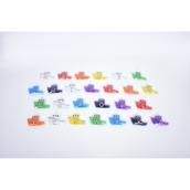 Rainbow Squidgy Gel Alphabet Boats