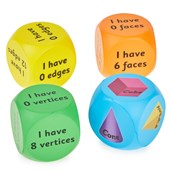 3D Shapes Cubes - Pack of 4