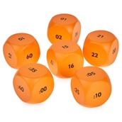 24 Hour Clock Cubes - Pack of 6