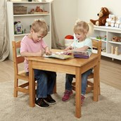 Role Play Wooden Table and Chairs Set
