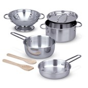 Stainless Steel Pots and Pans Play Set