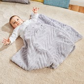 Plush Blanket with Embossing - Grey from Hope Education