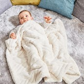 Plush Blanket with Embossing - Cream from Hope Education