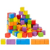 Coloured wooden cubes from Hope Education - pack of 100