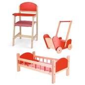 Dolls Wooden Furniture - Full Set