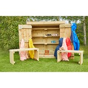 Coat and Wellie Storage Shed from Hope Education