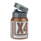 X4 Standard Acryl - 500ml - Burnt Umber