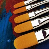 Specialist Crafts Student Synthetic Brush Set - Filbert - Long Handled