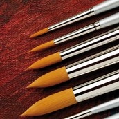 Specialist Crafts Student Synthetic Brush Set - Round - Short Handled