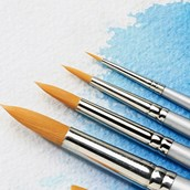 Specialist Crafts Student Watercolour Brush Set - Round - Short Handled