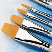 Specialist Crafts Student Watercolour Brush Set - Flat - Short Handled