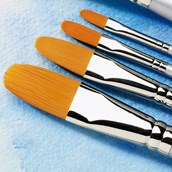Specialist Crafts Student Watercolour Brush Set - Filbert - Short Handled