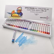 Spectrum Water-Soluble Oil Pastels - Pack of 24