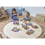TickiT Rainbow Wooden Spools - Pack of 21