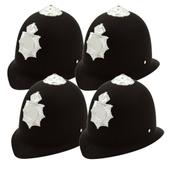 Police Helmets - Pack of 4