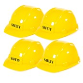 Construction Worker Hats - Pack of 4