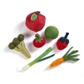 Felt Food Groups - Fruit Veg Bag 6 pieces