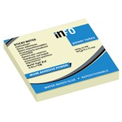 inFO Power Sticky Notes - Yellow - 75 x 75mm - Pack 12