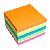 Brilliant Cube Sticky Notes Cube - Mix Neon - 75 x 75mm