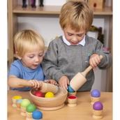 Natural Wood Colour Ball Sorting Set