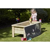 Raised Sandpit With Chalkboard Lid