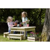 Square Table and Bench Set - PreSchool