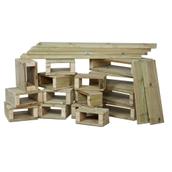 Outdoor Wooden Building Blocks - Pack of 22