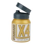 X4 Standard Acryl - 500ml - Gold