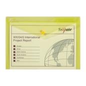 Snopake A4 Popper Wallets Yellow