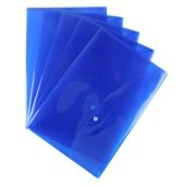 A4 Popper Wallets Blue