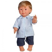 Doll with Downs Syndrome - Boy Blonde Hair