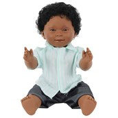 Doll with Downs Syndrome - Black Boy