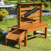 Outdoor STEM Table and Slide