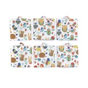 Hedgerow Friends Wipe Clean Sit Upons - pack of 6