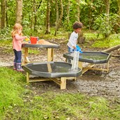 Outdoor Play Tray Stands from Hope Education -  Set of 3