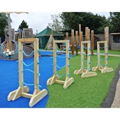 Wooden Channelling Stands Pack 4 from Hope Education