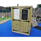 Outdoor Storage Shed with Mark Making