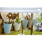 Coloured Metal Fence Planters - Pack of 5 from Hope Education
