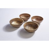 Natural Wooden Bowls - Pack of 4 from Hope Education