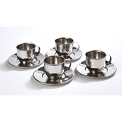 Mini Metal Cup, Saucer and Spoon Set from Hope Education