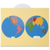 Nienhuis Montessori Puzzle Map: World Parts
