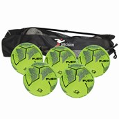 Precision Fusion Indoor Football - Yellow/Black - Size 5 - Pack of 5