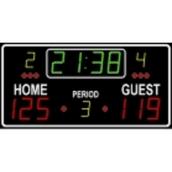 Multi Sport Scoreboard - Black - 120 x 70 x 7cm