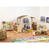 Millhouse Reading Zone Taupe Roof Without Baskets
