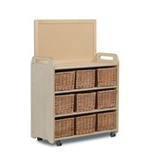 Millhouse Mobile Tall Unit Display Book Addon - 9 Baskets