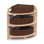 Millhouse Tall 90 Degree Corner Unit with 3 Baskets
