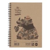 Rhino Recycled Hardback Notebooks - A5 - Pack of 5