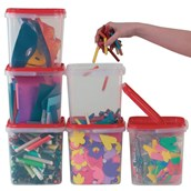 Square Storage Containers x 10 - pack of 10