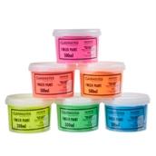 Classmates Finger Paints - 500ml - Fluorescent Colours - Pack of 6