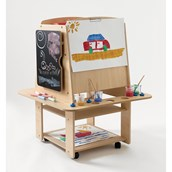 4 Sided Mobile Storage Easel